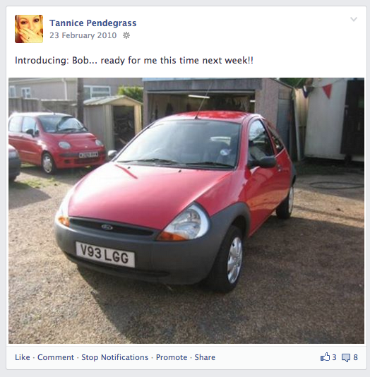 My first car was a Ford Ka