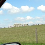 I saw Stonehenge for the first time (that I remember) from Bob