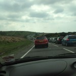 Traffic on the way to Cornwall